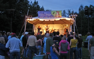 Dancing to the great tunes at Valley Stage Music Festival in VERMONT!