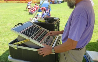 Happy soundman makes for happy promoter at Valley Stage Music Festival in Huntington Vermont