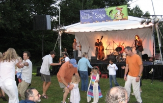 Dancers at Valley Stage Music Festival in Huntington Vermont